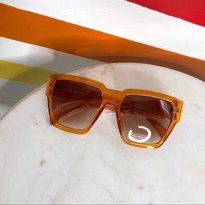 NEW Free People orange oversized sunglasses